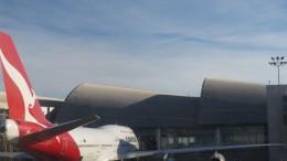 Qantas 747 at LAX