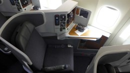 American's business class on their new 777-300er.