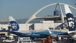 Alaska 737 Airlines 737 in hybrid Alaska/Boeing colors.
