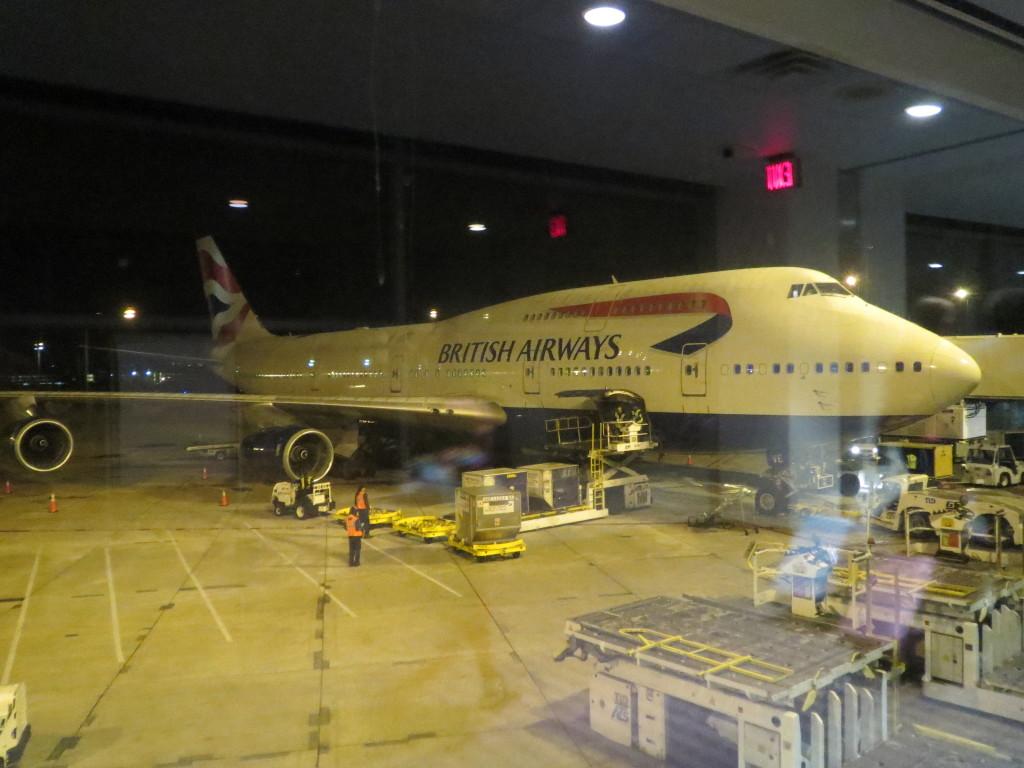 BA 747 at SAN