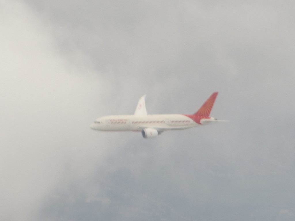 Air India 787 over London