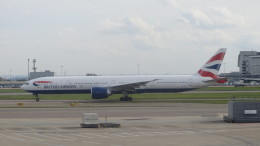 BA 777 at LHR