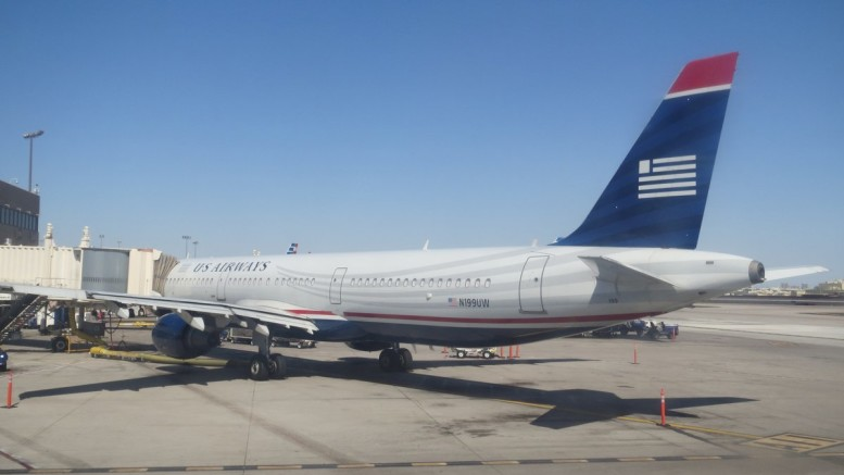 N199UW rests on the tarmac during a searing hot day in Phoenix