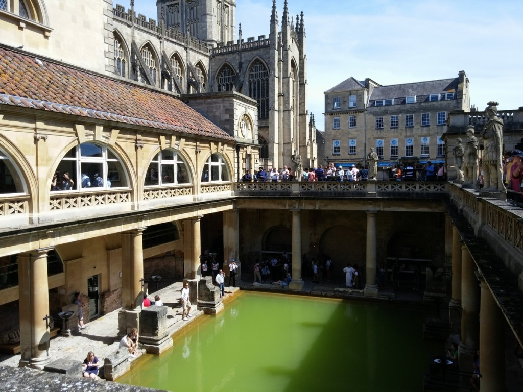 The Roman-built baths in... Bath!