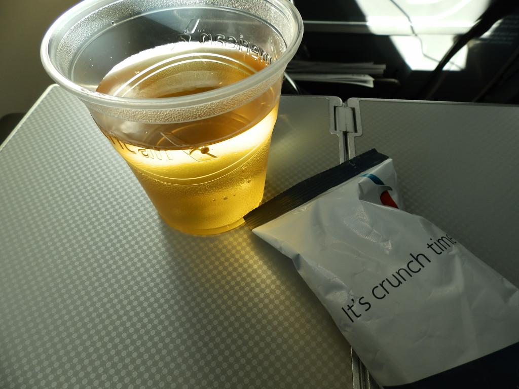 Apple juice and pretzels